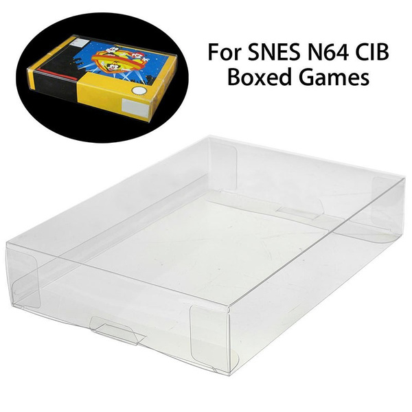 Custom Clear PET Box Protectors Case Sleeves Covers For SNES N64 CIB Boxed  Games