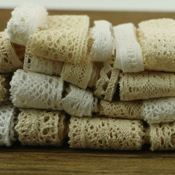 dressbridalribbon, lacecrochet, vory, lace trim