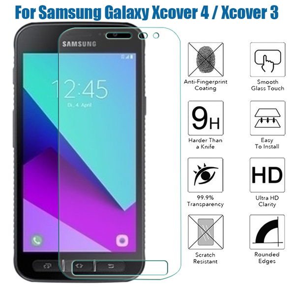 new style c4a17 80fb3 Screen Protector Tempered Glass Samsung Galaxy X Cover 4 & X Cover 3 9h  Case Cover Coque for Samsung Galaxy Xcover 4 G390F / Xcover 3 G388F