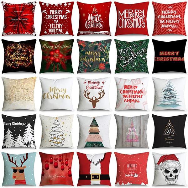 christmaspillowcase, case, Decor, Home Decor