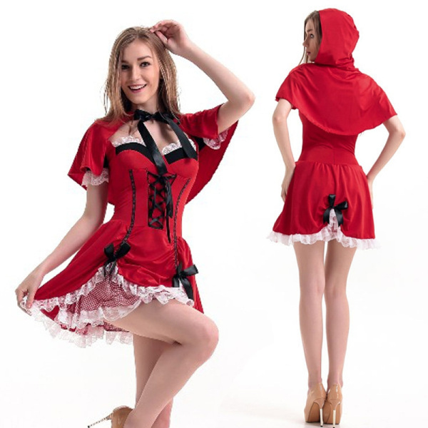 Halloween Halloween Costume Fairy Tale Characters Little Red Riding Hood  Dinner Dress Prom Queen