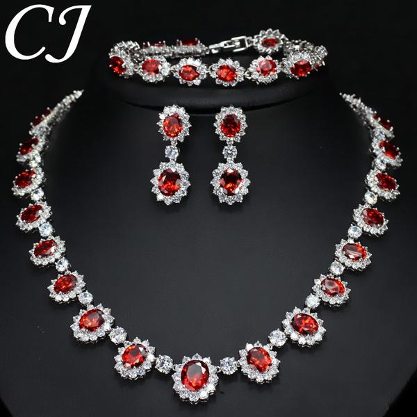 Wedding Jewelry Set Micro Cz Diamond