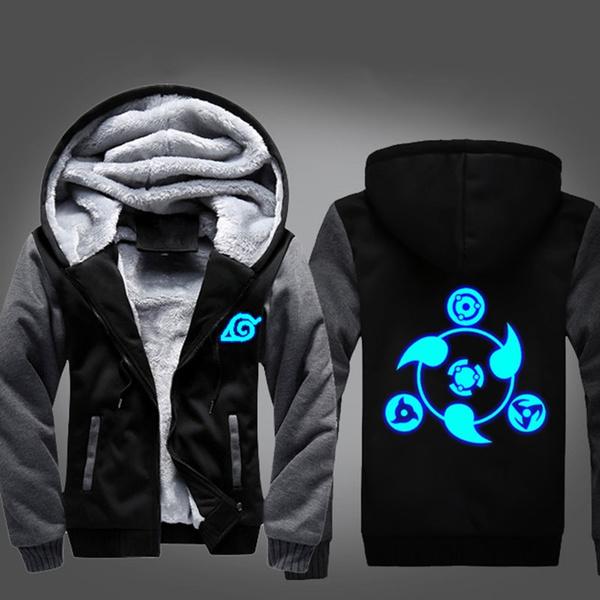 Anime NARUTO Akatsuki Jacket Casual Sweatshirt Luminous Hoodie Coat @