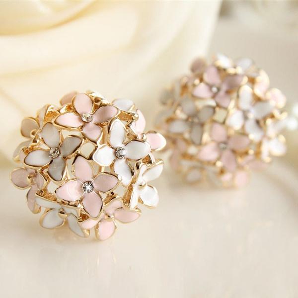 Flowers, leaf, Jewelry, Stud Earring