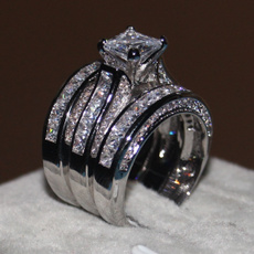 White Gold, DIAMOND, Princess, wedding ring
