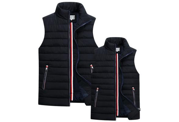 New Arrival Design Couple Cotton Vest Jacket Winter Warm Hit Color Unisex Vest Down Cotton Thick Vest Jacket Men's Cotton Waistcoat Gilet Homme