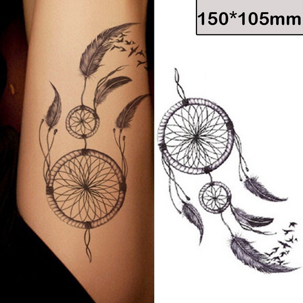 2 Pcs Fashion Waterproof Tattoo The Personalized And Fashionable Dreamcatcher Tattoo Stickers