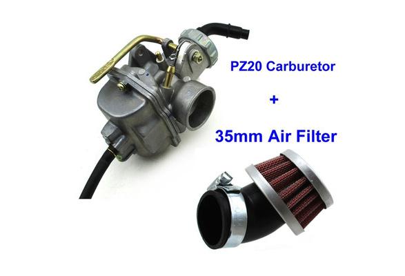 PZ20 20mm Carburetor Carb 35mm Aluminum Air Filter Cleaner For XR75 XR80  XR80R XL75 XL80 Pit Dirt Bike 50cc 70cc 90cc 110cc Go Kart ATV Quad 4  Wheeler