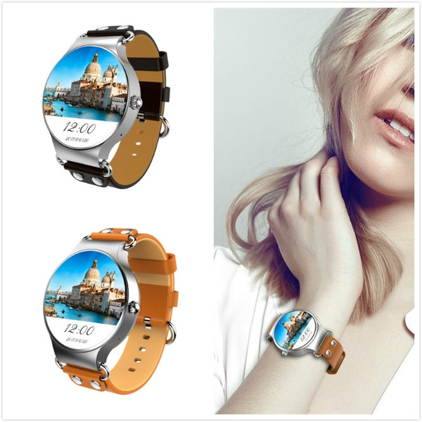 1 39 Inch Android 5 1 MTK6580 Quad-Core 8GB 1 3Ghz Smart Card Inserting  Watch Phone KINGWEAR KW98 3G Smart Watch