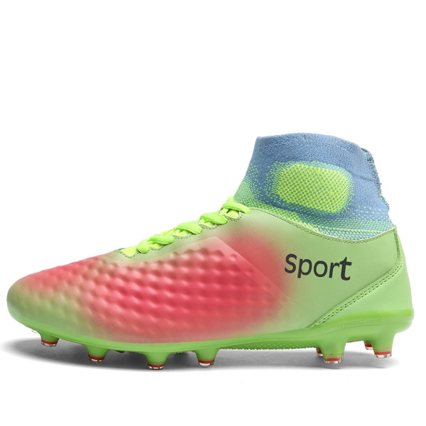 e95c8bec7a66 Geek | High ankle men football shoes ling spike training football boots hard -wearing soccer shoes high top soccer cleats