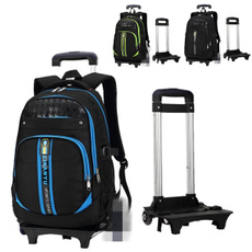 trolley, luaggebag, black backpack, School