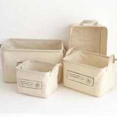 Box, homestorageorganization, desktoporganizercase, Cotton