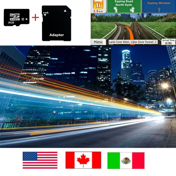 Quanmin Newest IGO 8 Primo Android Gps Map 8G SD/TF Card USA Canada Mexico  For Android System Navigation Map Updates GPS Software