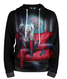 hoody sweatshirt, 3D hoodies, Fashion, harleyquinn