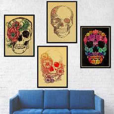 art, skullposter, vintageposter, skull