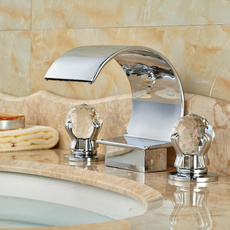 Faucets, Crystal, chrome, waterbasin