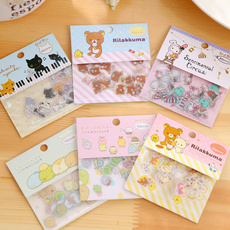 Decorative, cute, rilakkuma, labelssticker