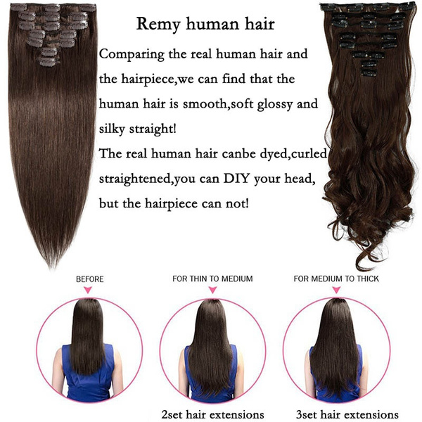 Wish 7a Grade 7pcs Fashion Silky Soft Human Hair Sexy Clip In