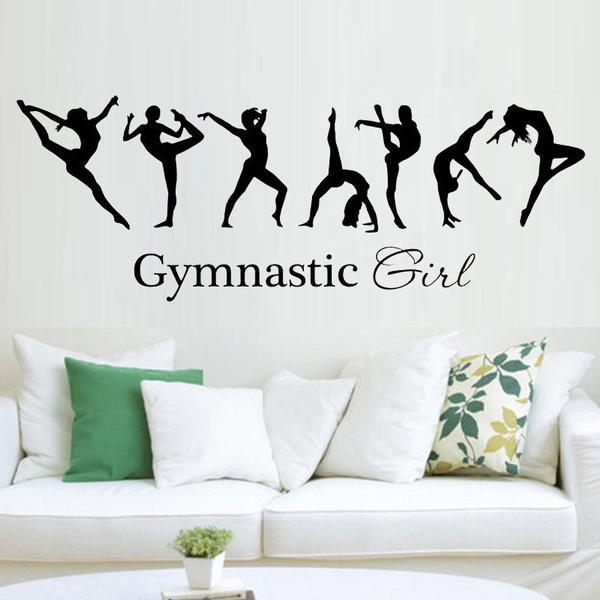 Wish   Girl Gymnastics ballerina dac flag mural wall decals warm ...