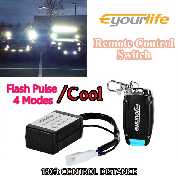 Eyourlife LED Light Bar Remote Control Switch On/Off Strobe Flash Pulse on ford vacuum harness, ford coil harness, ford temp sensor, ford gas pedal, ford vacuum switch, ford duraspark harness, ford super duty hub conversion, ford parking assist sensor, ford battery cover, ford key switch, ford radio display, ford heater switch, ford air bag module, ford rear bumper bracket, ford fuel pump assembly, ford computer harness, ford ac clutch, ford abs unit, ford cigarette lighter, ford engine harness,