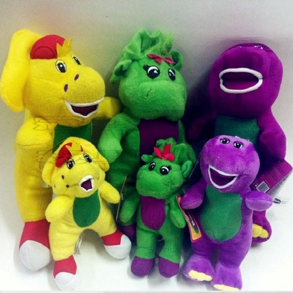 Singing Barney and Friends Dinosaur Baby Bop BJ Plush Doll Toy Sing I LOVE  YOU Song