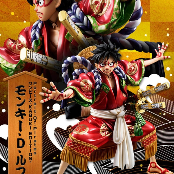 One Piece Luffy Kabuki Edition Gear Fourth Monkey D Luffy Figure Gum Gum Fruit Action Figure Model Size 1