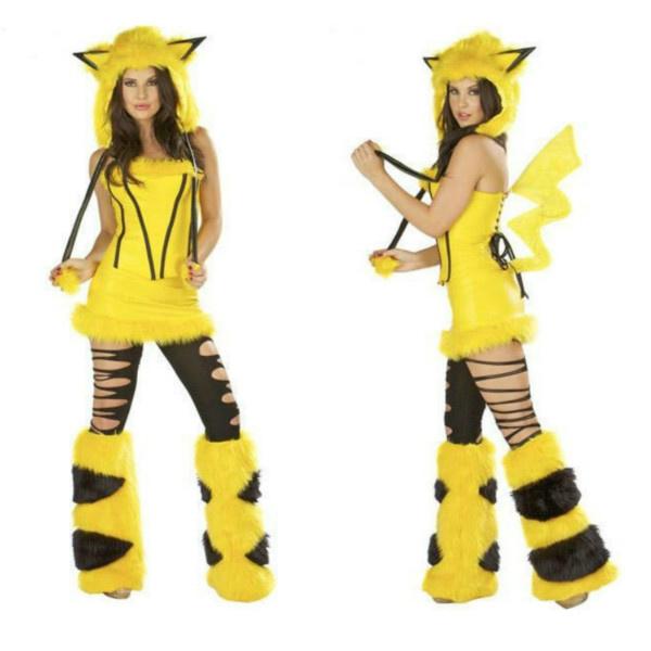 Sexy Movie Disfraces Cosplay Pikachu Disfraz Para Mujeres Cartoon Fiesta De  Halloween Costume Sexy Movie Cosplay Costumes Pikachu Costume For Women ...