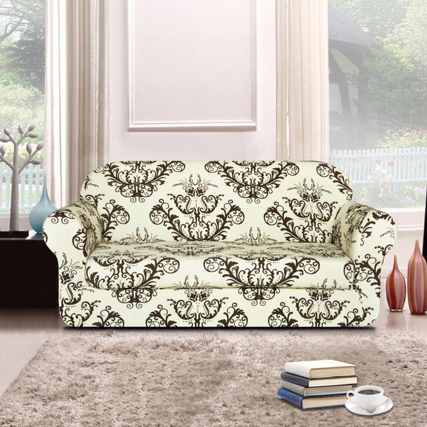 Swell Subrtex 2 Piece Spandex Printed Fit Stretch Slipcovers Sofa Covers Loveseat Covers Couch Covers Unemploymentrelief Wooden Chair Designs For Living Room Unemploymentrelieforg