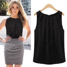blouse, Tops & Blouses, Plus Size, Chiffon top
