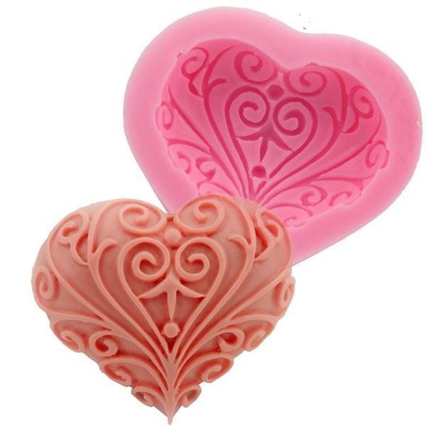 Heart, Love, fondantmold, Silicone