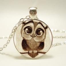 Owl, cabochon, Jewelry, cute