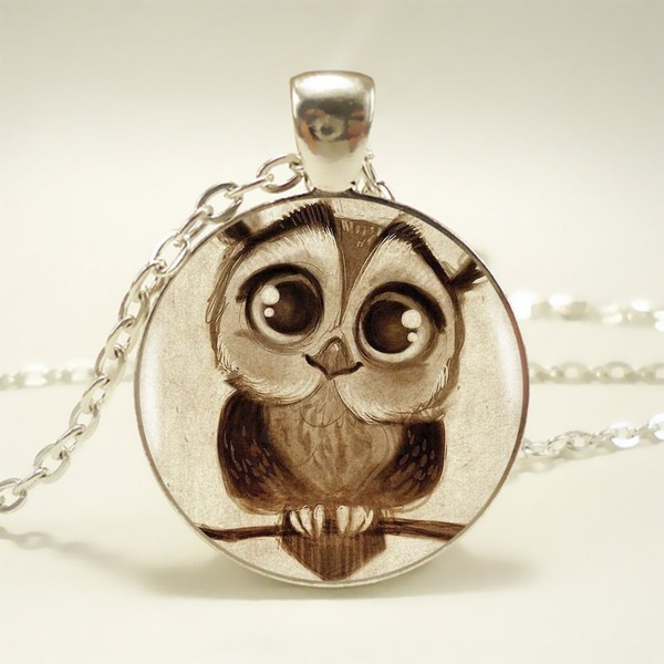 Owl, cabochon, Jewelry, cute