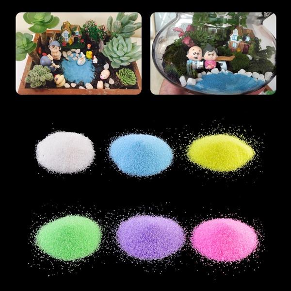 1 Bag Colorful Quartz Sand Miniature Tank Aquarium Bonsai Pot Fairy Garden Decor Huj Wish
