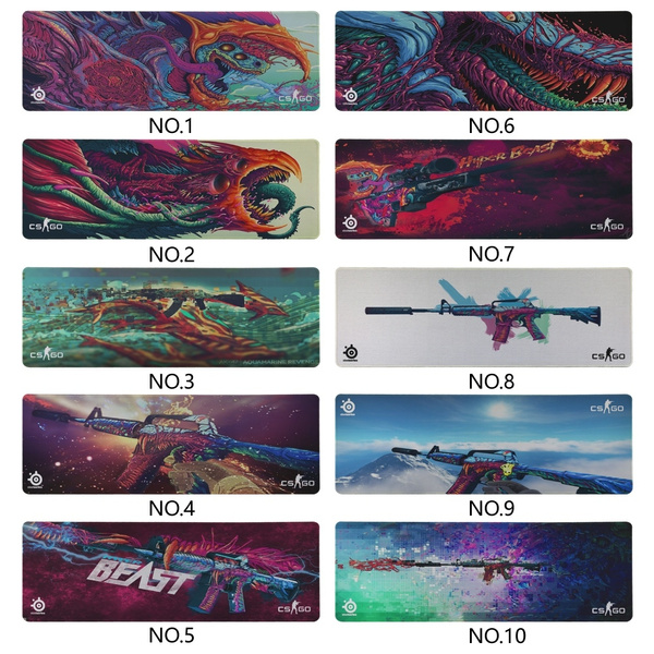 Hot Sale Hyper Beast CS GO Mouse pad Speed/Control Version Large Gaming  Lock Edge Mouse Pads Keyboard Mat