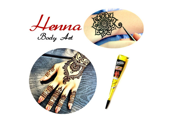 Mehndi Henna Paste Cone 25g Waterproof Temporary Tattoo Body Arts Indian Mehendi Heena Tatoo Swimsuit Wedding Dress Makeup Tools