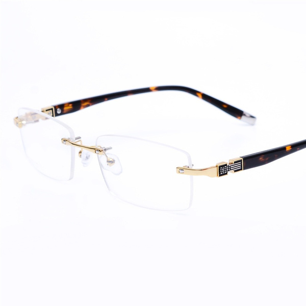 Wish | Vazrobe Rimless Glasses Frame Men Clear Eyeglasses Frames for ...