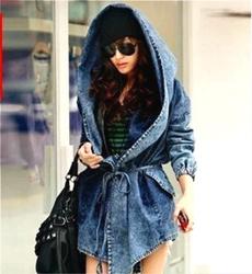 denimtrenchcoat, ladyjeansjacket, hoodiescoat, Denim