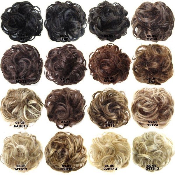 Wish Synthetic Hair Chignon Donut 6ah613 Brown Mix Color 30g Hair