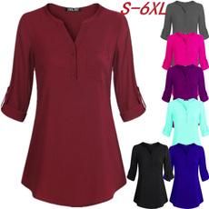 Plus Size, Tops & Blouses, Shirt, chiffon