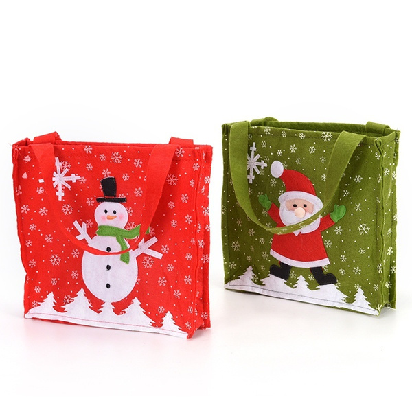 wish new year cloth christmas gift big bag santa claus snowman high grade gift bag christmas decoration supplies enjoy fashion