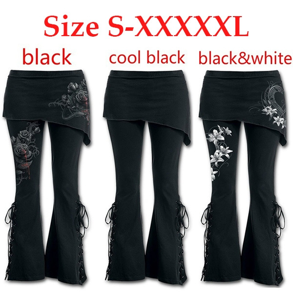 d001582ff2429 Autumn and Winter Women Fashion Printing 2 In 1 Boot Cut Leggings ...