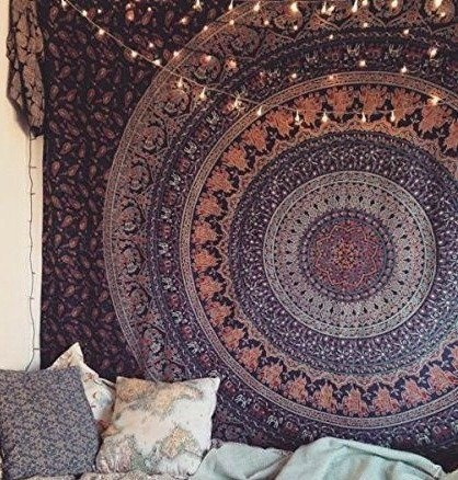 Indian Hippie Mandala Elephant Tapestry Throw Boho Bed Cover Wall Hanging Decor