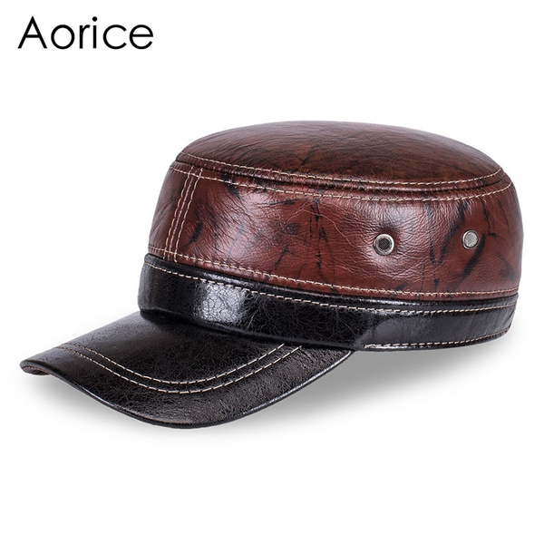 1f4de10a46c HL7087 Men s genuine leather baseball cap 2017 winter brand new ...