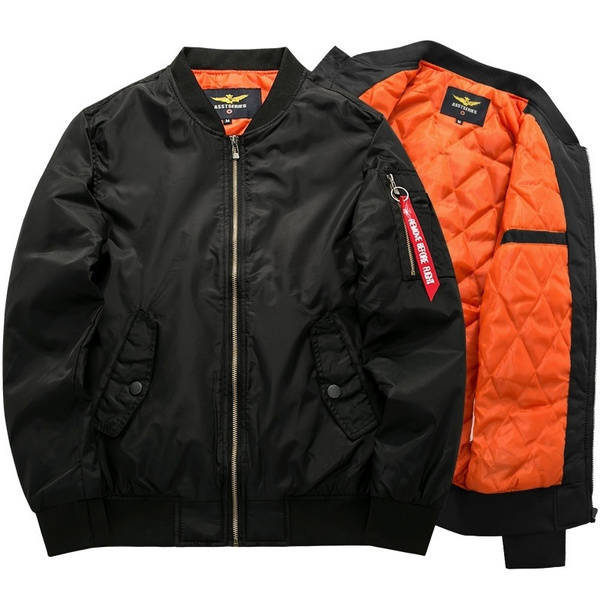 ac98bc381 Fashion Men's Classic Thick Bomber Jackets Flight Jackets Casual Coats Plus  Size S-6XL