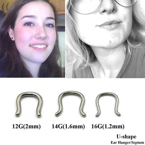 1pc 316l Surgical Steel Septum Piercing Body Jewelry U Shaped Open