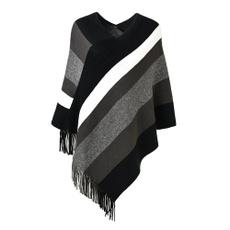 Plus Size, Shawl Wrap, Sweaters, Multicolored