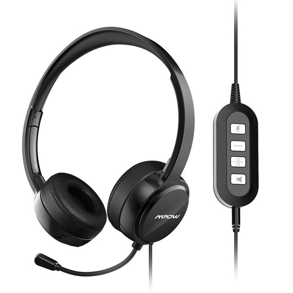 f8073816279 1/2 Pack)Mpow USB Headset/ 3.5mm Computer Headset with Microphone ...