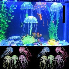 led, siliconejellyfish, lights, fish