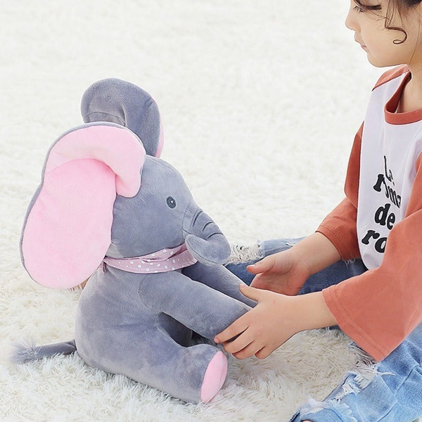 Peek-A-Boo Elephant Plush Doll for kids
