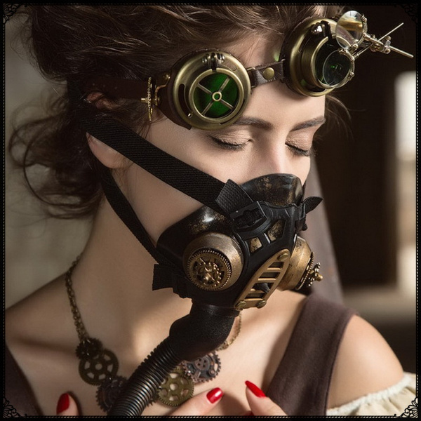 Steampunk Respirator Mask Resin 3D Gas Mask for Halloween Carnival Party  Costume Cosplay Retro